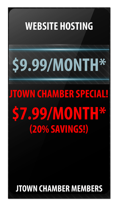 website hosting discounts of 20% for JTown Chamber members