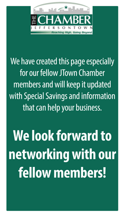 banner explaining the networking benefits of jtown chamber members